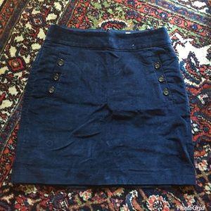 Banana Republic Navy Corduroy Skirt